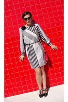vintage dress - Flabella shoes - vintage from Ebay sunglasses - vintage purse -