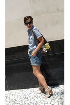 Gap blouse - Gap shorts - Chloe bag - Angeles Almuna Design necklace - Aldo shoe