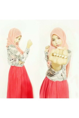 ciffon cerutty shelldom olshop skirt - shelldom olshop scarf
