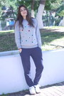 Periwinkle-persunmall-sweatshirt-purple-h-m-pants-white-nike-sneakers
