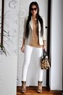 Beige-zara-blazer-light-brown-leopard-print-kenneth-cole-bag
