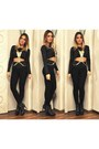 Black-zara-boots-black-zara-pants-gold-bodychain-topshop-accessories