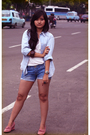 Blue-no-label-blouse-white-shorts-purple-mango-accessories-pink-marks-and-