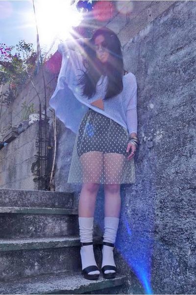 mesh Ana Gonzlez sweater - polka dots Ana Gonzlez skirt