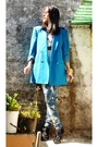 Blue-oleg-cassini-blazer-black-shoes-blue-diy-jeans-yellow-forever21-brace