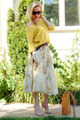 Light-yellow-cotton-tj-maxx-sweater-bronze-tote-ripani-bag