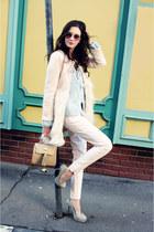 bubble gum wool Sheinsidecom coat - salmon Ray Ban sunglasses