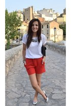 Mango shorts - Zara flats - Lefties t-shirt