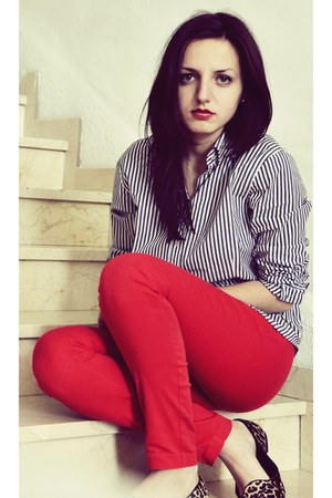 pull&bear shoes - Zara shirt - H&M pants