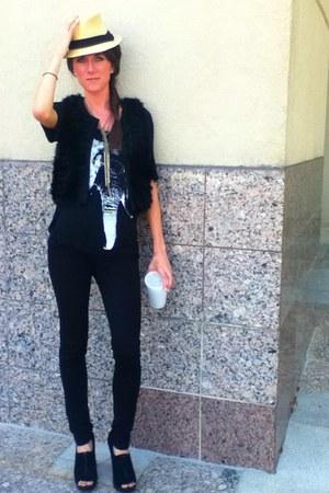 Target hat - BCBGMAXAZRIA leggings - BCBGeneration vest - BCBGeneration top