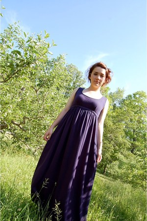 navy homemade dress