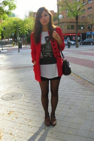 vintage blazer - Zara top - vintage shoes