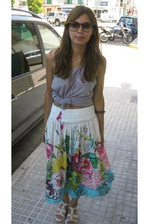 mozaic skirt - supermarket in Bangkok vest - dads sunglasses
