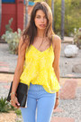 Blue-zara-blazer-black-31-phillip-lim-bag-yellow-billabong-blouse