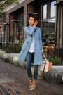 Sky-blue-paul-joe-coat-navy-rich-skinny-jeans-brown-bcbg-bag