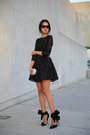 Black-keepsake-dress-silver-tasha-bag-black-vogue-sunglasses