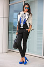 White-j-crew-coat-blue-nasty-gal-sweater-black-alexander-wang-bag