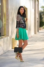 Green-ted-baker-dress-black-bcbg-jacket-black-emporio-armani-bag