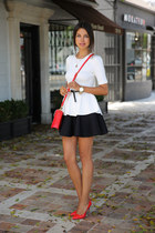 black cameo skirt - red Marc by Marc Jacobs bag - red Miu Miu heels