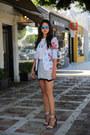 Sky-blue-nanette-lepore-blazer-white-ily-couture-t-shirt