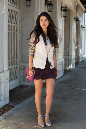 light pink Line & Dot blazer - magenta Rebecca Minkoff bag