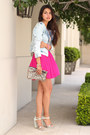 Hot-pink-stylebymarinacom-dress-light-blue-zara-jacket