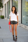 Red-marc-by-arc-jacobs-bag-black-one-teaspoon-shorts