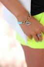 White-minusey-blazer-yellow-j-crew-shorts-black-pink-pepper-heels