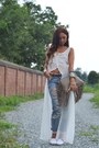 Ivory-zara-dress-light-blue-topshop-jeans-off-white-castañer-wedges