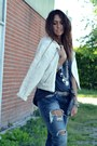 Navy-zara-jeans-silver-no-brand-shoes-ivory-zara-jacket-gray-zara-t-shirt