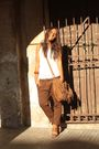 White-h-m-top-brown-zara-pants-brown-zara-shoes-brown-zara-purse-brown-h