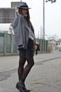 Black-diy-details-cheap-monday-boots-heather-gray-h-m-hat