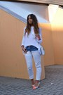 Light-orange-h-m-shoes-white-zara-jeans-white-zara-sweater-white-h-m-bag