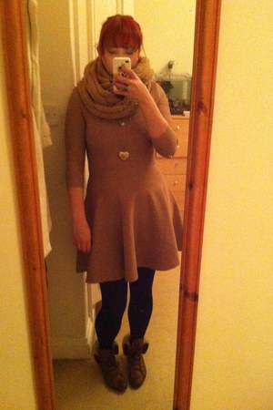 TK Maxx boots - bandage skater whistles dress - black calvin klein tights - TK M