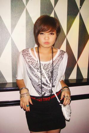 blouse - skirt - belt - purse