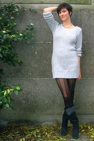 Pimkie sweater - Pimkie tights - Zara boots - various accessories
