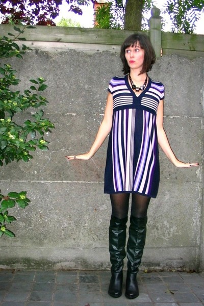 dress - tights - boots - accessories