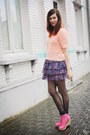 Bubble-gum-boots-peach-top-purple-skirt