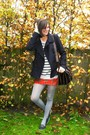 Heather-gray-sweater-silver-tights-navy-coat-navy-shoes-red-skirt-blac