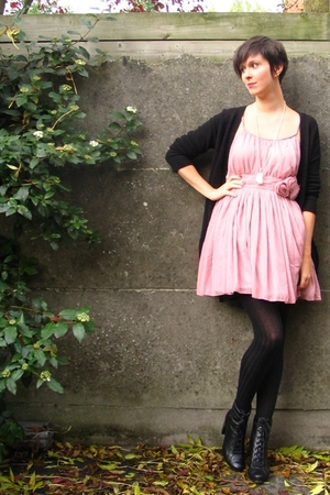 H&amp;M dress - Zara sweater - Pimkie tights - Pimkie boots - various accessories