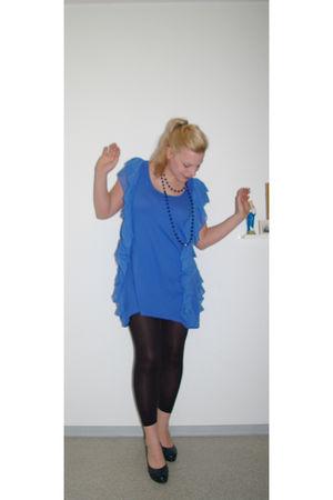 H&M dress - H&M leggings - vintage shoes - vintage necklace
