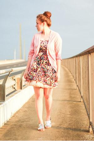 Rock Kleidung dress - H&M cardigan - American Apparel skirt - H&M Marni sandals