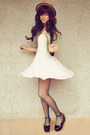 Black-flatform-label-shoes-shoes-white-sweetheart-lace-koogal-dress