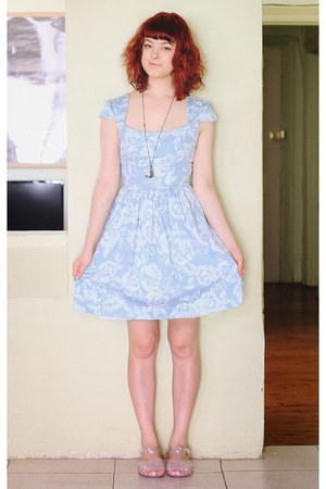 light blue Review dress - silver Juju Jellies sandals