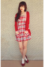Ruby-red-ally-dress-cream-cotton-on-socks-red-oasap-cardigan