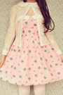 Light-pink-mod-dolly-dress-beige-wholesale-hat-white-oasap-tights