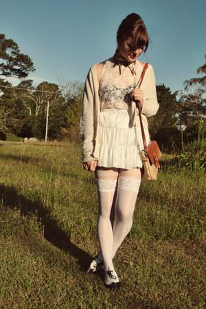 gold DIY accessories - camel Wholesale-Dress bag - cream Forever 21 cardigan