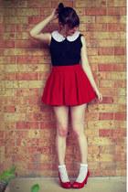 ruby red wholesale skirt - white vintage socks