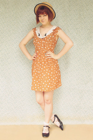 light orange lady bird print miss patina dress