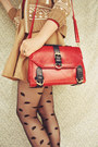 Ruby-red-satchel-wholesale-bag-crimson-vintage-blouse